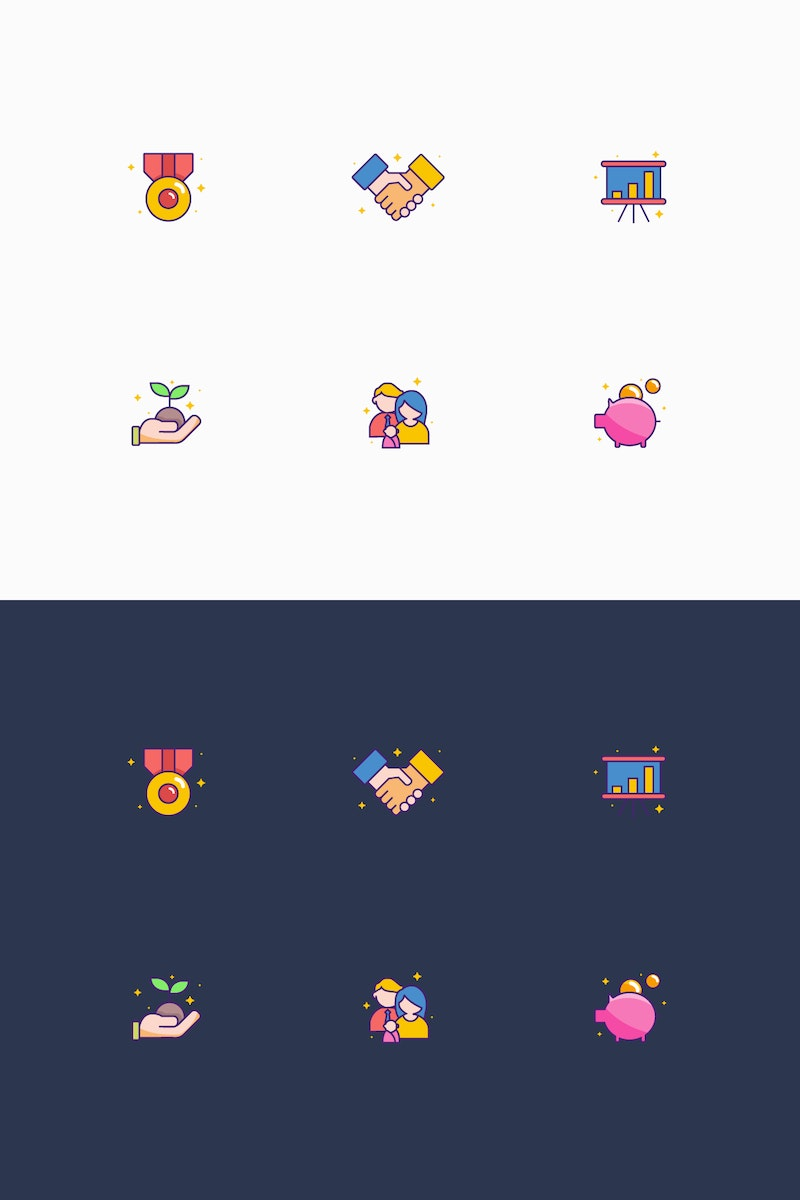 6 Vector Random Icons preview