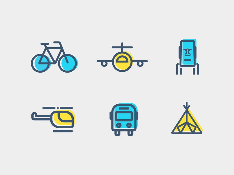 6 Vector Travel Icons preview