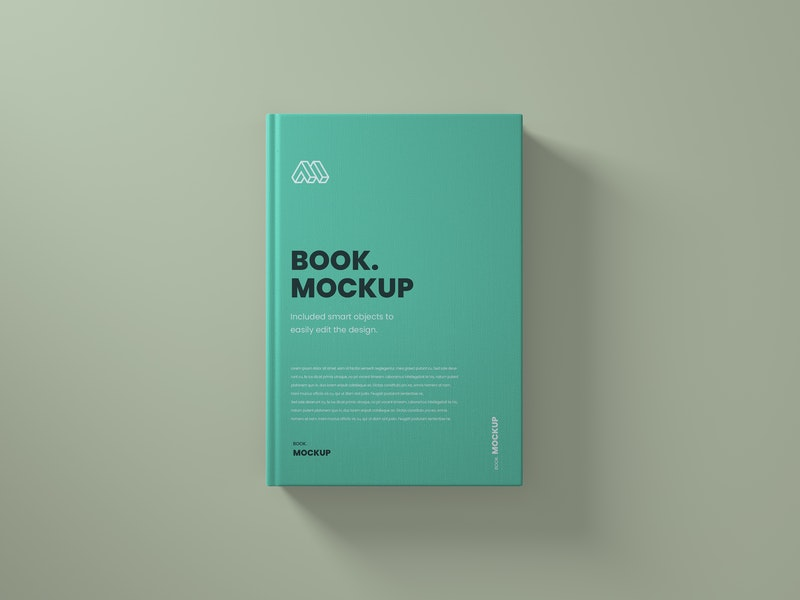 Top View Book PSD Mockup preview