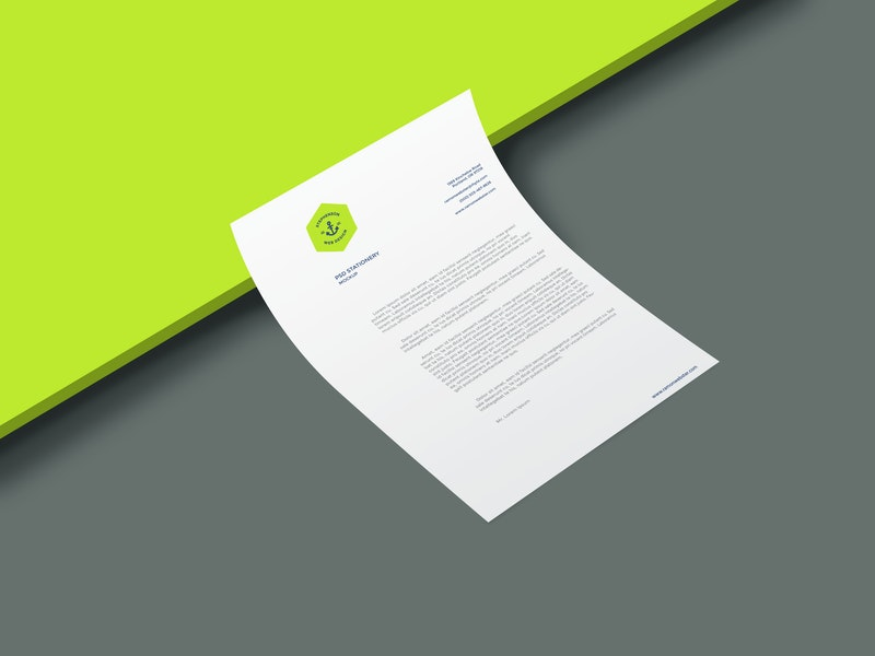 A4 Curled Paper Mockup preview