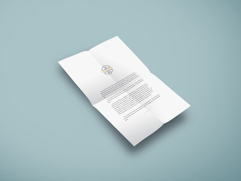 A4 Paper PSD Mockup preview
