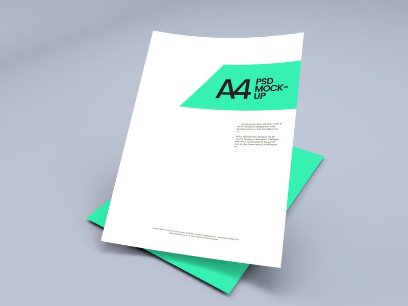 A4 Paper Sheet Mockup preview