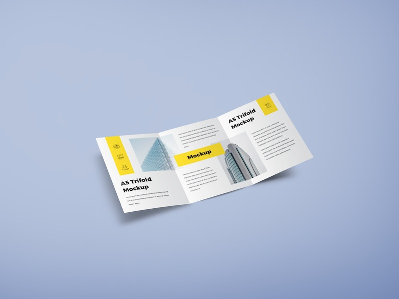 A5 Trifold Mockup preview