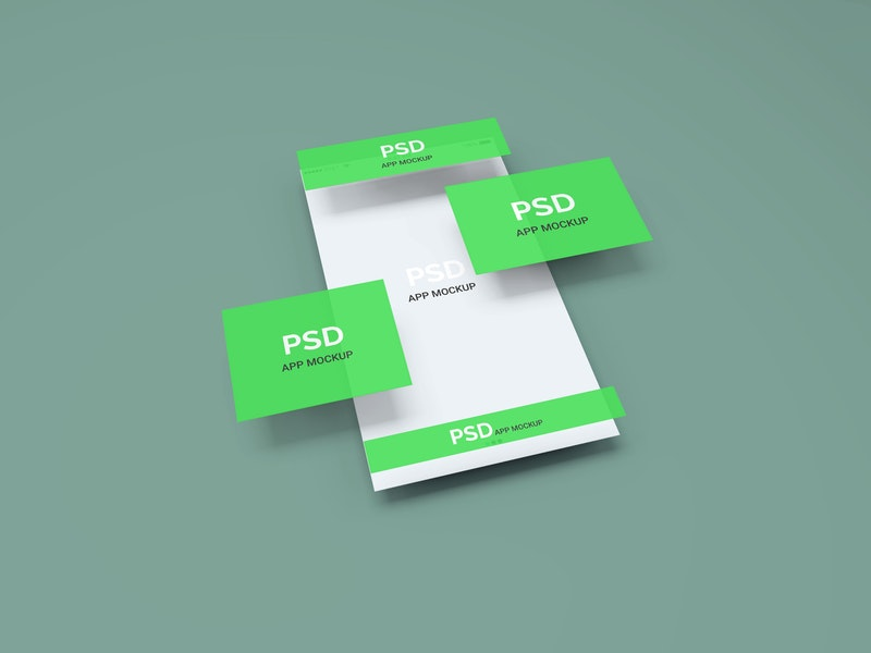 App Display PSD Mockup preview