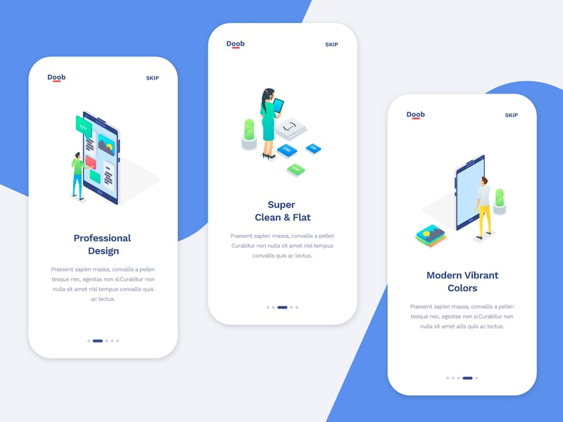App OnBoarding Screens preview