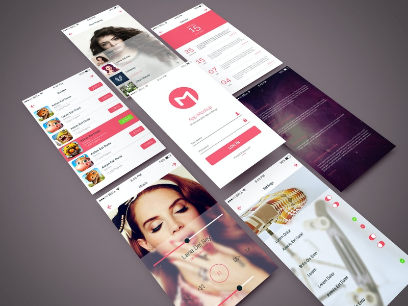 App Screen Showcase Mockup preview