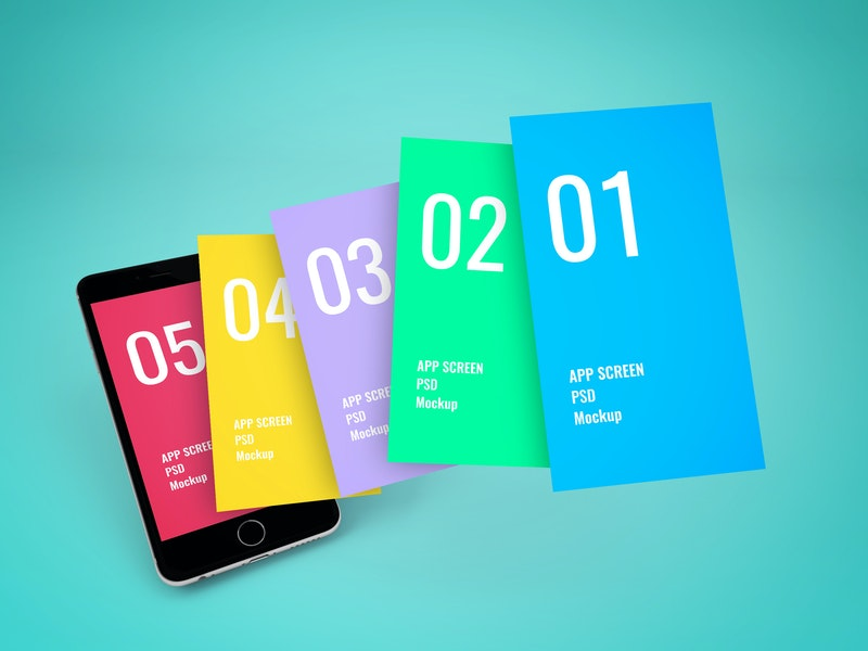 App Screen Showcase Mockup Vol.6 preview