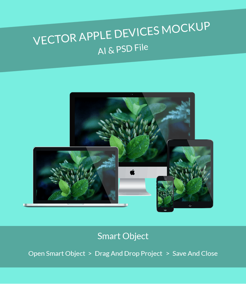Apple devices mockup preview
