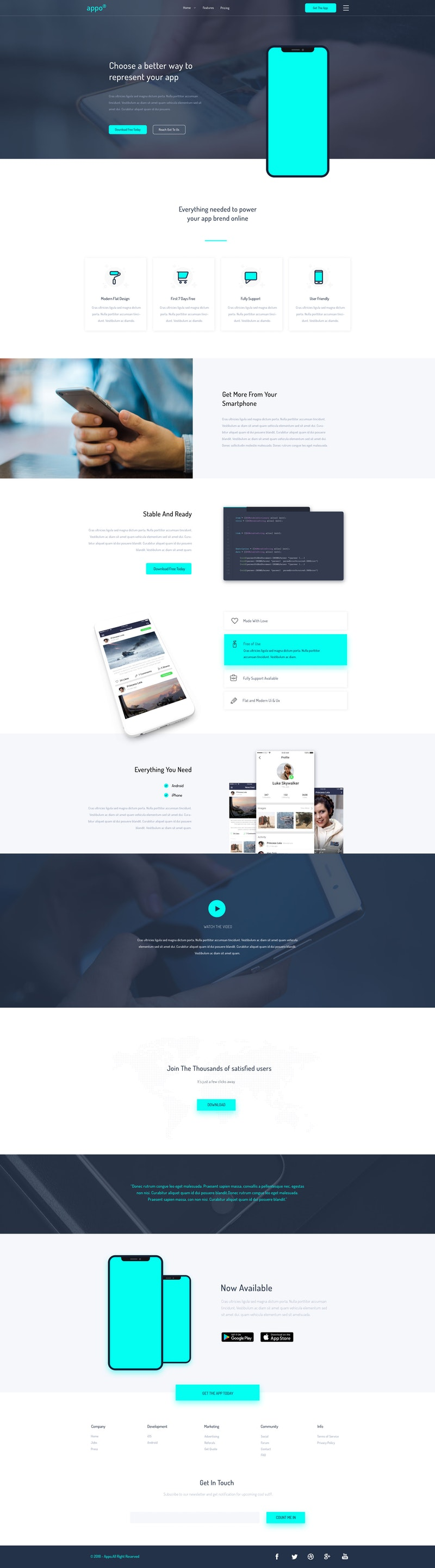 Appo - PSD Landing Page Template preview