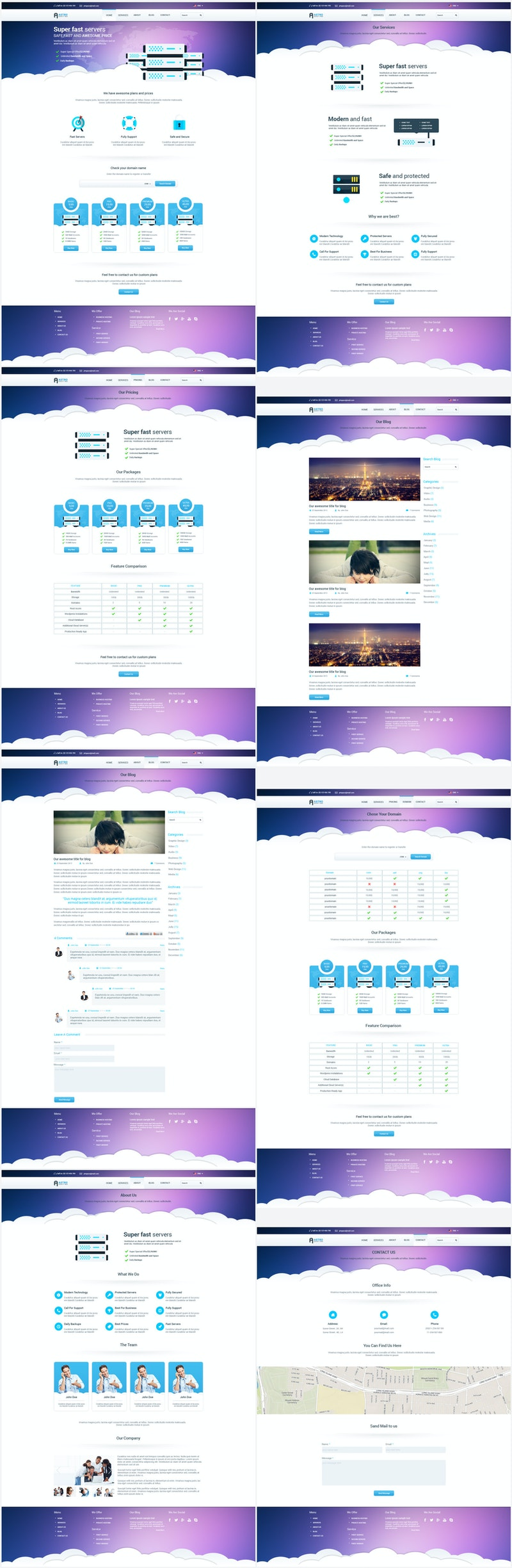 Astro - Multipage Hosting Template preview
