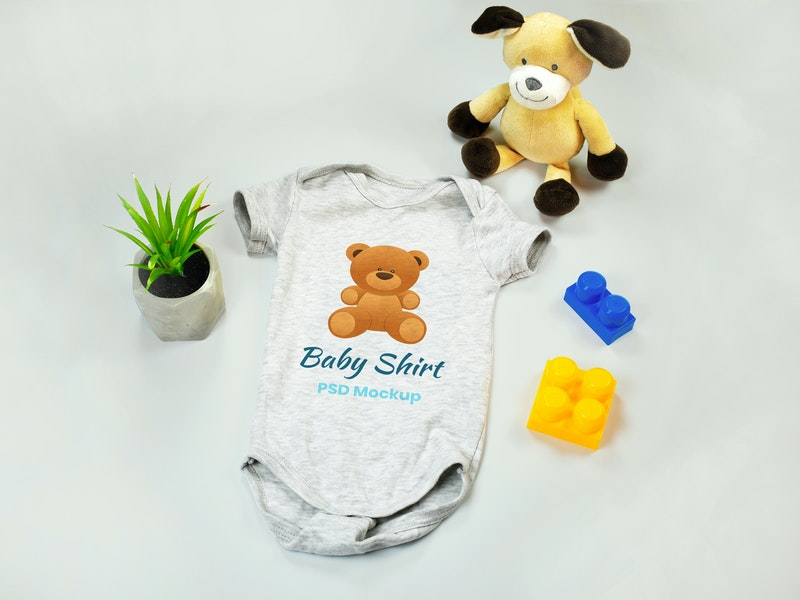 Baby Onesie PSD Mockup preview