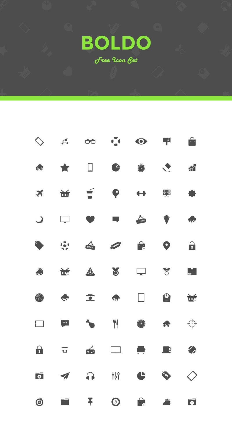 Boldo - Free Icon Set preview