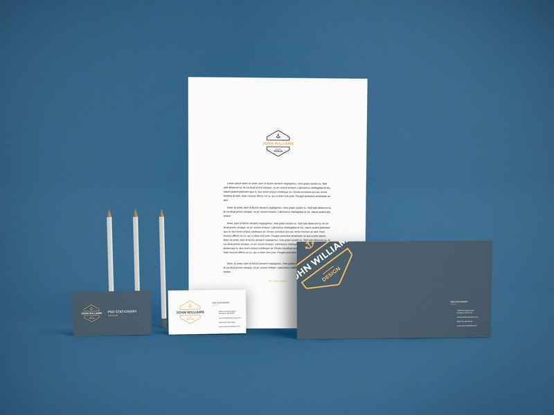 Branding Stationery PSD Mockup preview