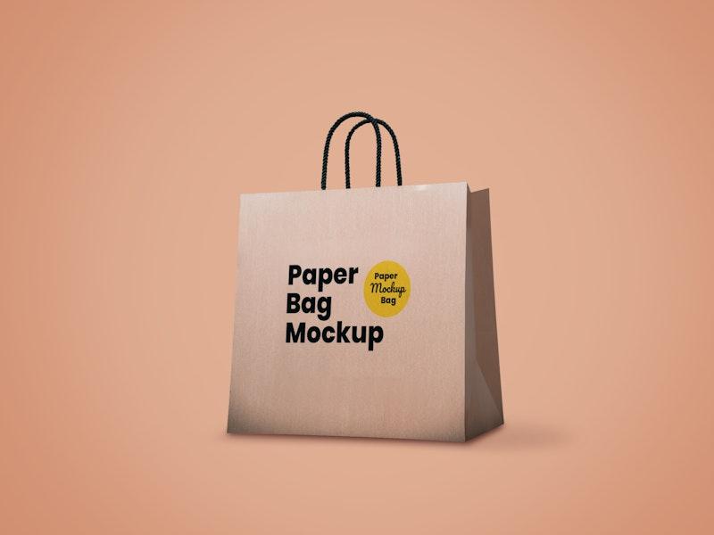 Brown Paper Bag PSD Mockup preview