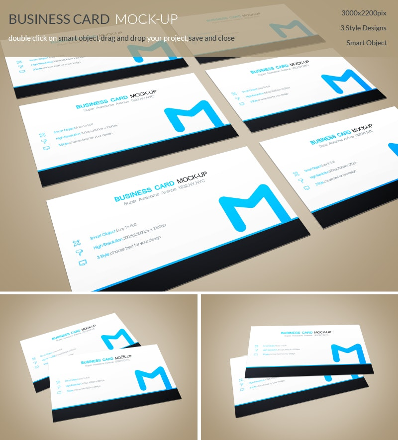 PSD Business Card MockUps preview