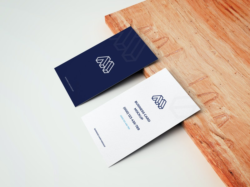 Business Cards With Wooden Board preview