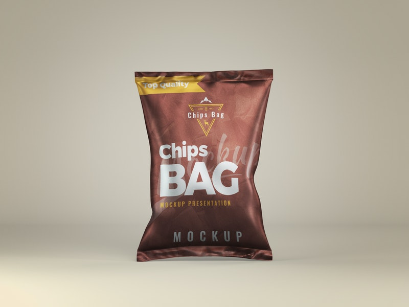 Chips Bag Front View Mockup preview