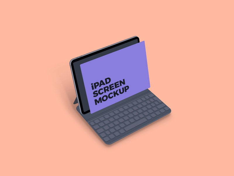 Clean iPad Screen Mockup preview
