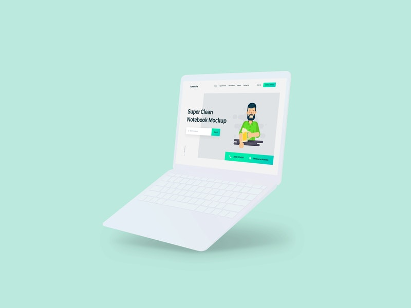 Clean Minimalistic Notebook Mockup preview