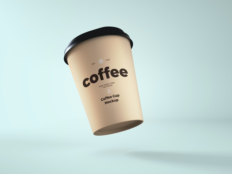Paper Coffee Cup PSD Mockup preview