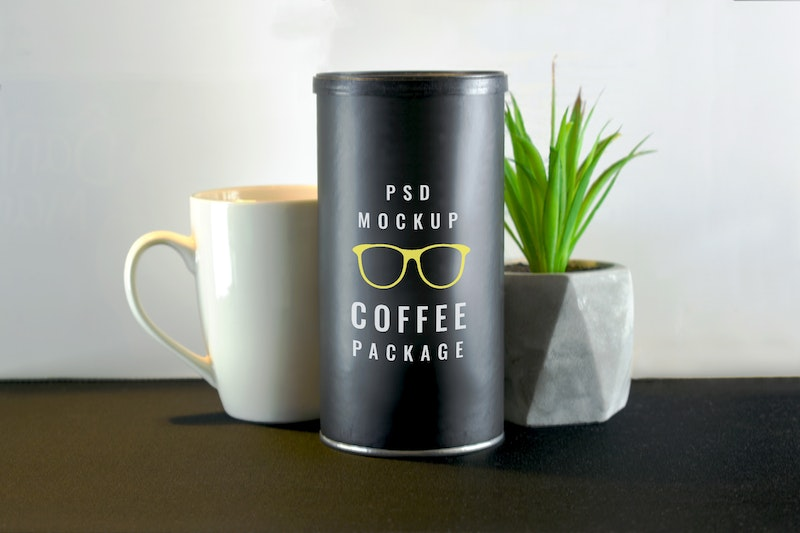 Coffee Tube Package Mockup preview