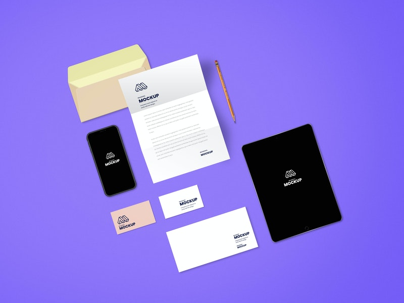 Complete Branding PSD Mockup preview
