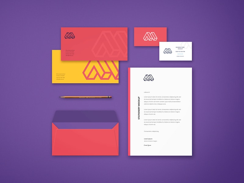 Corporate Stationery PSD Mockup preview
