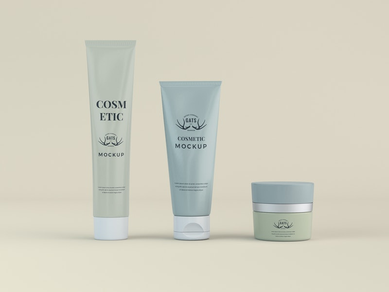Cosmetic Tubes Mockup preview