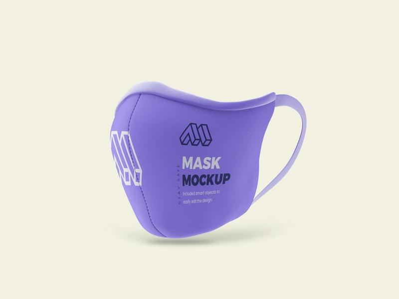 Covid 19 Mask PSD Mockup preview