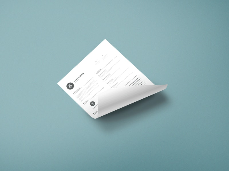 Curled A4 Paper Mock-up preview