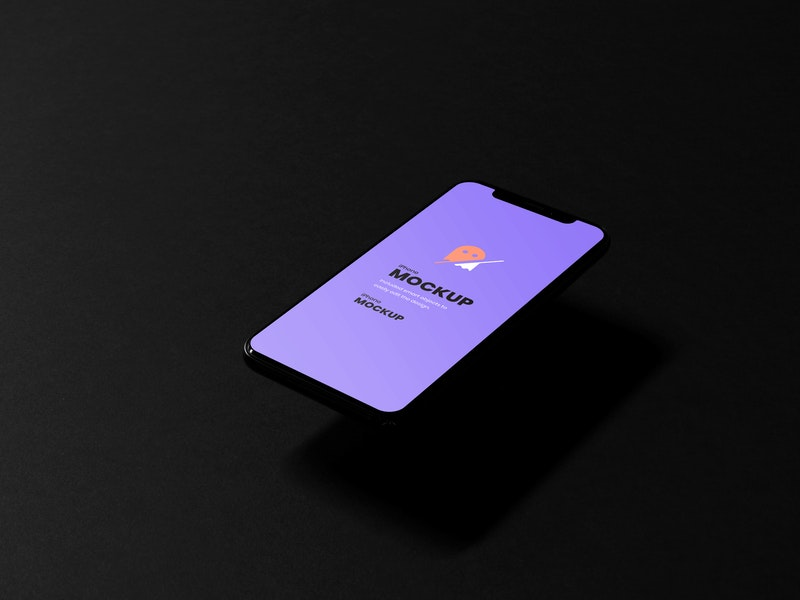 Dark iPhone PSD Mockup preview