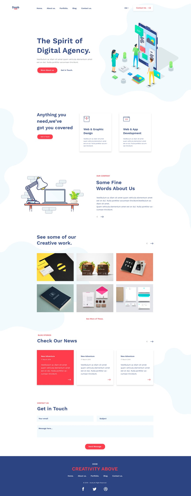 Doob - Simple Agency PSD Template preview