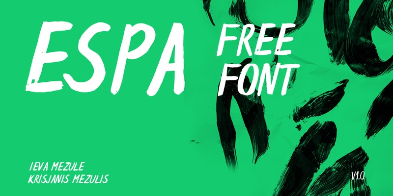 Espa Free Brush Font preview