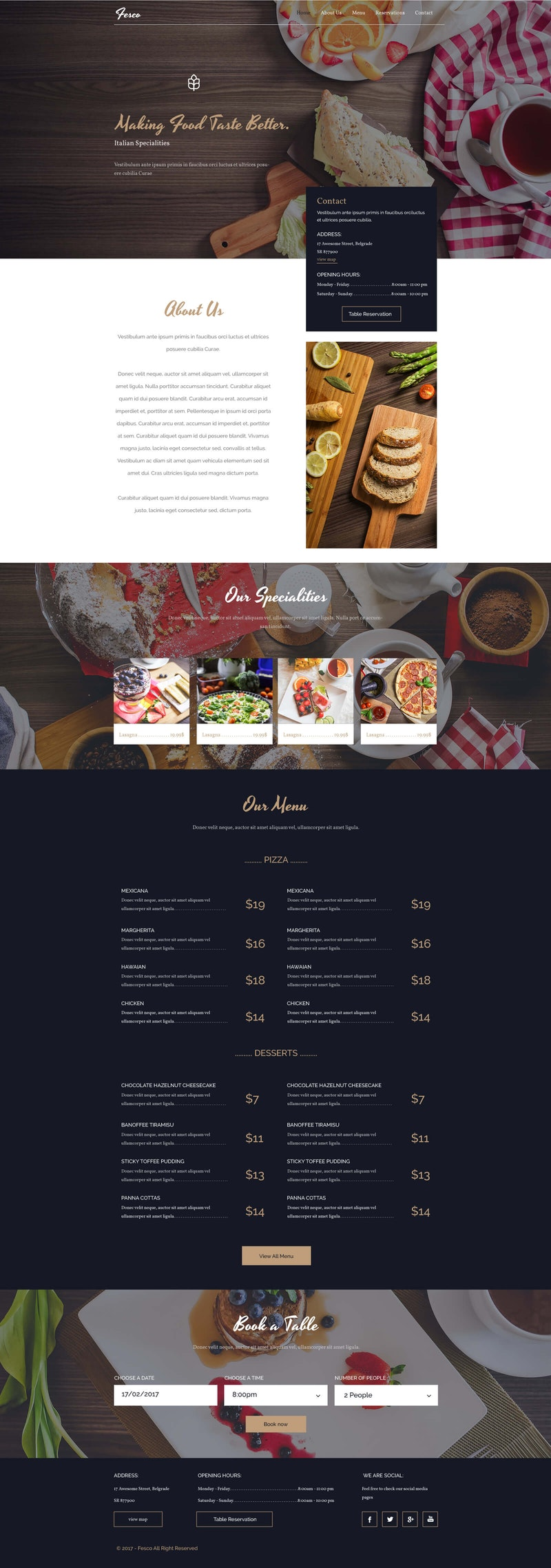 Fesco - Restaurant PSD Template preview