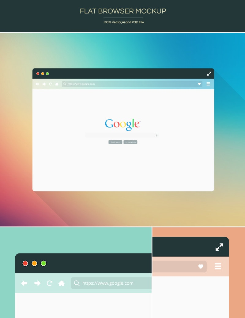 Free Flat Browser Mockup preview