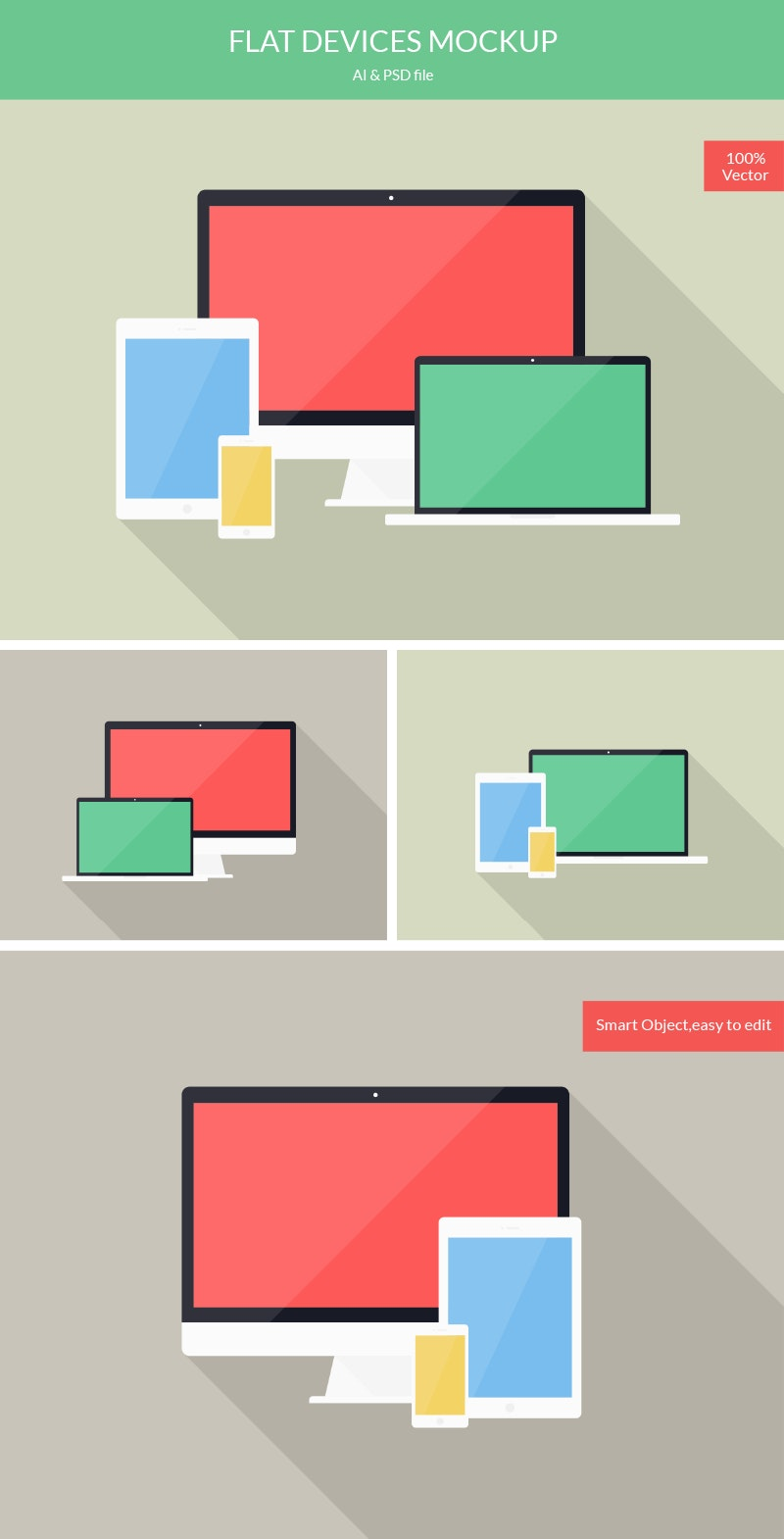 Flat Devices Mockup preview