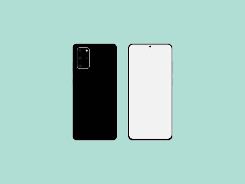 Flat Samsung Galaxy S20 Mockup preview