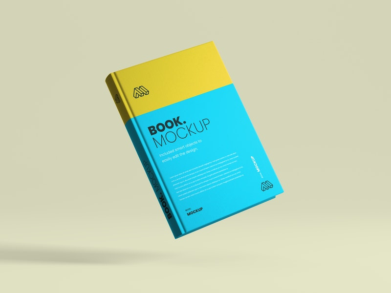 Flying Book Cover Mockup preview