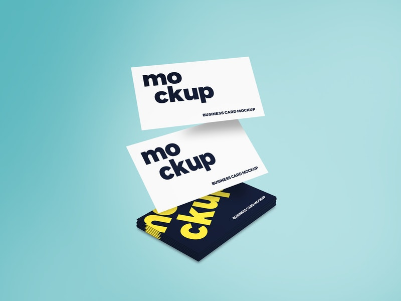 Flying Business Card Mockup preview