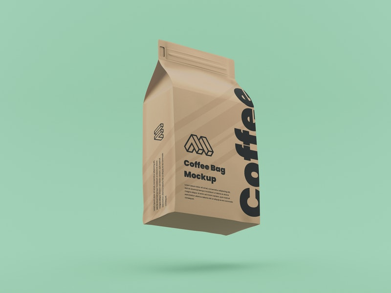 Flying Coffee Bag Mockup preview