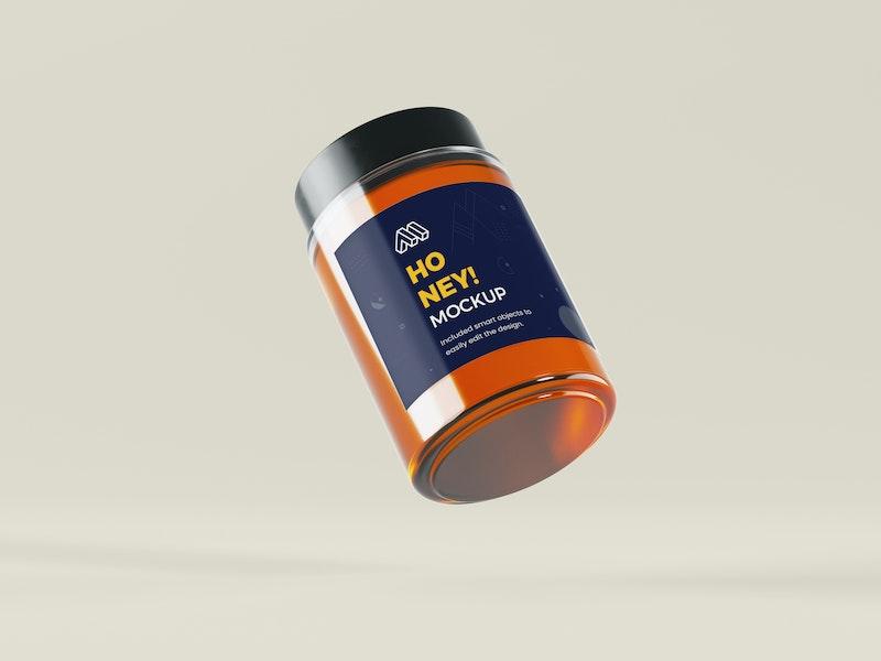 Flying Honey Jar PSD Mockup preview