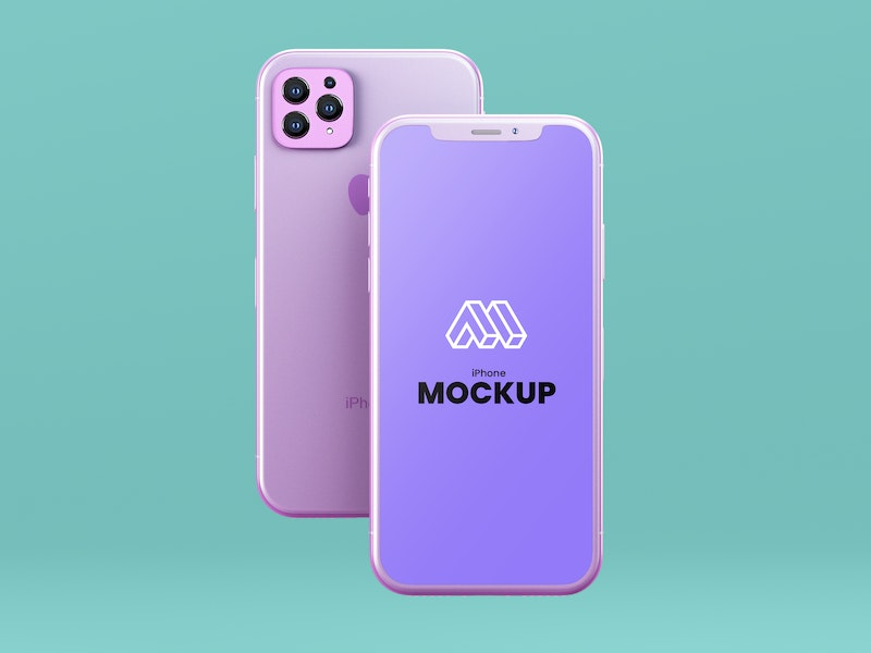 Flying iPhone 12 PSD Mockup preview