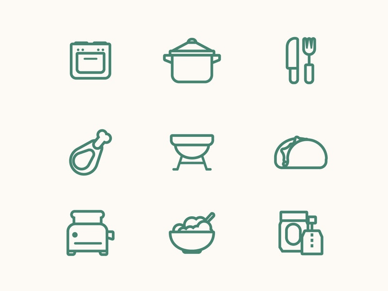 Food Vector Line Icon Set preview
