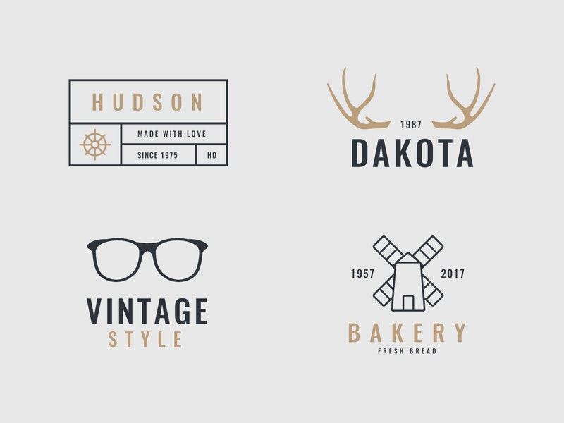 4 Retro and Vintage Logos preview