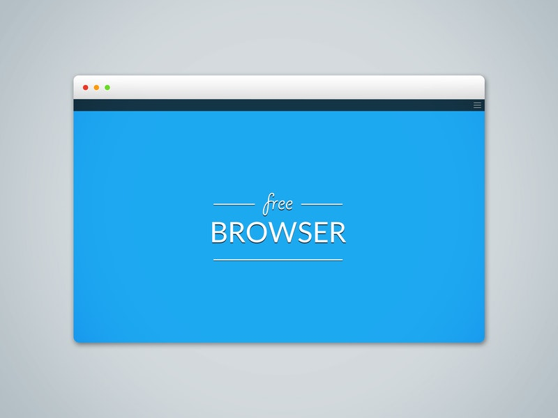Free Browser PSD Mockup preview