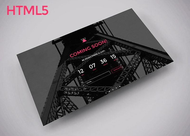 Coming soon HTML template preview