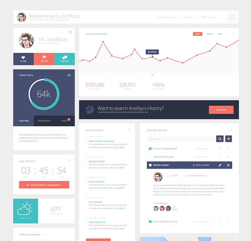Free Flat UI Kit preview