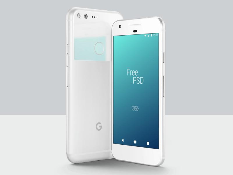 Free Google Pixel PSD Mockup preview