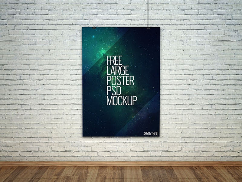 Large Poster PSD Mockup preview
