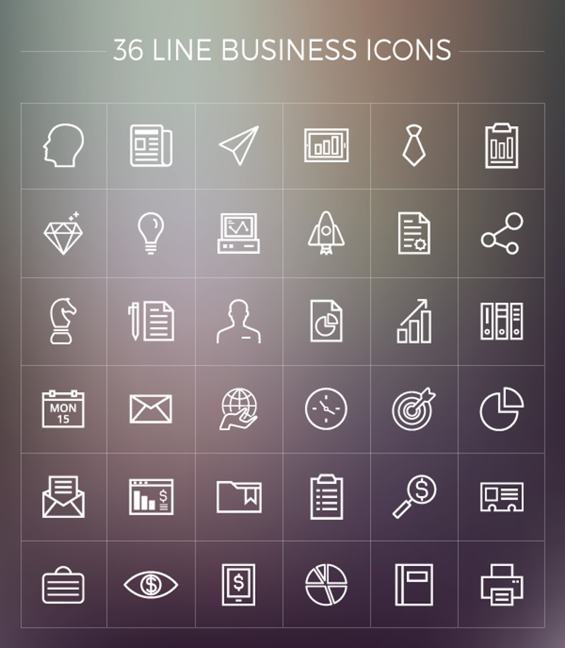 Free Line Business Icons Pack preview